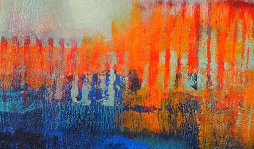 Gerollt, gedruckt, gemalt, gezeichnet-kreative Mischtechnik in der Acrylmalerei