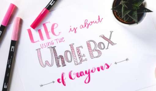 Lettering - herbstliche Buchstaben schön zeichnen