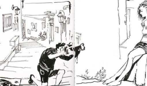 Urban Sketching – schwarz auf weiß