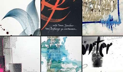 Kalligrafische Gestaltungsmöglichkeiten