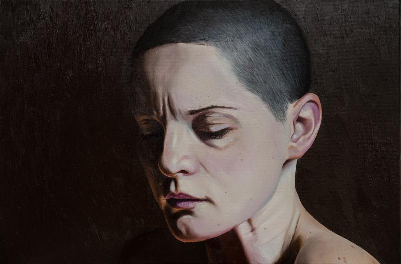 Naturalistische Porträt-Ölmalerei