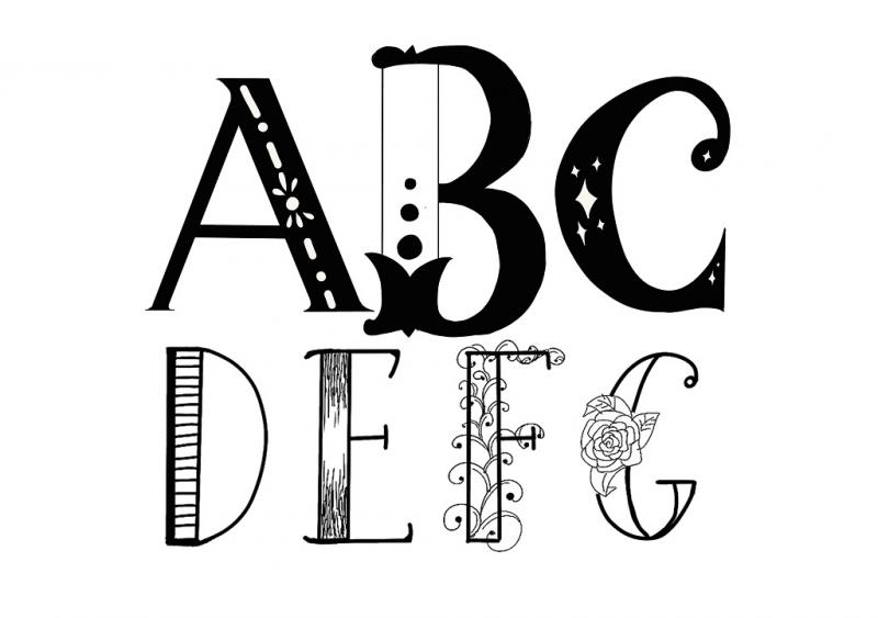 Handlettering: Decorated Letters